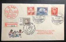 1960 Greenland First Day Cover Fdc To Copenhagen Denmark Pro Education Mxe