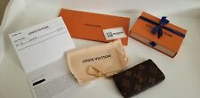BNIB Louis Vuitton Monogram Pochette Cles Coin Key Case Pouch +RECEIPT