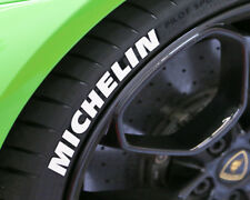 """TIRE LETTERS - MICHELIN - 1"""" For 17"""" 18"""" Wheels (4pcs) - low profile stickers"""