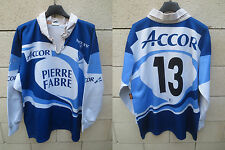 Maillot rugby CASTRES OLYMPIQUE porté n°13 vintage FORCE XV collection XL