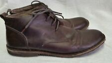 Varese Mens Gobi Leather Lace Ankle Boots 13M