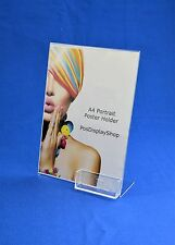 A4 Portrait Single Sided Angled Menu / Poster + Business Card Holder PDS8005BCH