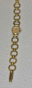 Armbanduhr Dugena 585er Gold Gehäuse Damenuhr Uhr Handaufzug Funktionsfähig
