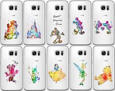 TPU Disney Fan Art Coque/Etui pour Samsung Galaxy S6 S7 Edge S8 Plus / Gel