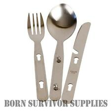 Military Knife Fork Spoon Cutlery Set KFS Camping Army Combi Metal Set Fishing