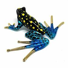 Zoocraft Collectible Frog Figurines Blown Glass Hand Painted Animals Lovers Gif