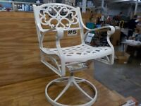 Home Styles 5552-53C Biscayne Swivel Chair, White Finish
