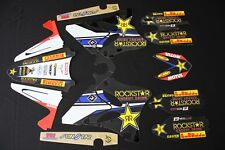 YAMAHA YZ 125-250 2006-2014 ROCKSTAR FLU MX GRAPHICS KIT STICKER KIT STICKERS