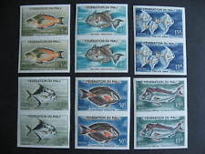 Mali imperf fish Sc 2,3,4,5,7,8 MNH imperf pairs check them out!