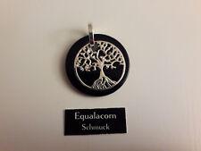 Lebensbaum Onyx Platte Anhänger 925er Silber Symbol Schmuck NEU