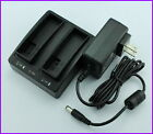 New Power Dual Charger Getac PS336 PS236 Data Collector Wall AC Adapter Charger