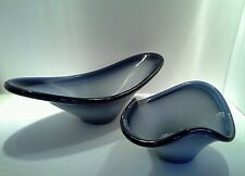 Matching Set of 2 Vintage Art Glass Table Bowls