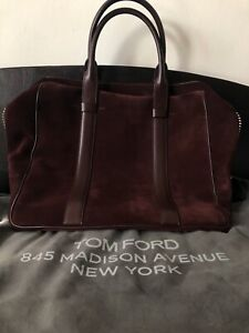TOM FORD Buckley Maroon Suede Leather Large Tote / Handbag RRP: £3990