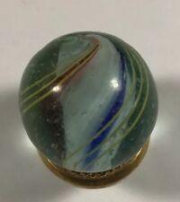 Vintage German Handmade  Lobed Solid Core Marble. .875 Inch.