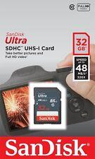 SanDisk 32GB Ultra Class 10 UHS-I SD 48MB/s Full HD Video SDHC scheda di memoria