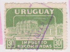 (UGA-180) 1960 Uruguay 30c green Parcel post (E)