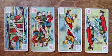 (4) Different 1890s Old King Cole Cardboard Game Cards Pipe Bowl Fiddlers Toys