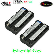 AU-ship    2x NP-F550 Battery  For Sony NP-F530 NP-F330 NP-F570 NP-F730 NP-F750