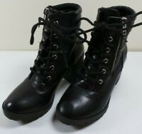 Mossimo Supply Women's Black Combat Style Boots Size 6 1/2