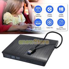 Usb3.0 External Cd-Rom Cd-R Cd-Rw Dvd-Rom Drive Writer Burner For Pc Laptop Slim