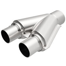 "Magnaflow 10748 Exhaust Universal Y-Pipe 2"" Dual 2.5"" Single Stainless Steel"