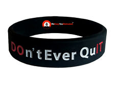 DON'T EVER QUIT / DO IT (RED) Wristband Motivational Inspirational Ionic