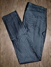 Suzy Shier Size 3/4 Womens Black Leather-Feel Skinny Pants