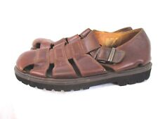 Timberland Mens Fisherman Leather Strap Sandals Size 13M Brown Summer Casual PC7