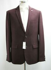 Men's Farah Hopsack Red Blazer (38R)..Ref: 7487