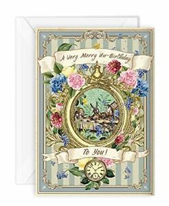 Alice in Wonderland Birthday Card Party Unbirthday Mad Hatter Tea Party Thank Yo