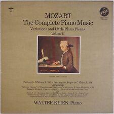 MOZART: Complete Piano Music VOX Box WALTER KLEIN Vinyl LP NM Rare BOX