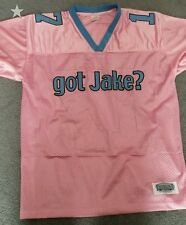 Encore Select youth XL (US 15) pink Jake Delhomme American Football team jerseys