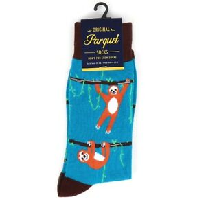 SLOTHS HANGING AROUND ALL OVER STYLE PAIR OF NOVELTY SOCKS