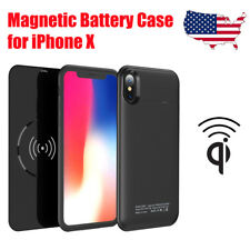 5000mah Wireless Qi Charger Case Portable Battery Power Pack for iPhone X