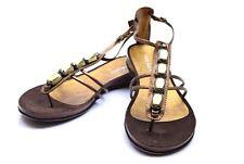Women's Nine West NWRaeven Bronze Leather Sandal Size 10 NEW