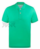 100% Cotton Polo Shirt Mens Classic Short Sleeve Plain Pique Collared T Top New