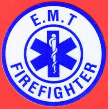 EMT Decal/Sticker Round (E.M.T. FIREFIGHTER)