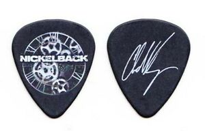 Nickelback Chad Kroeger Signature Black Guitar Pick 2012 Tour