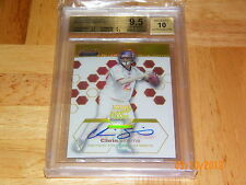 1/1 2003 CHRIS SIMMS FINEST GOLD REFRACTOR BGS 9.5 RC AUTO #33/50 POP 1 NONE ^