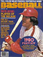 1980 (Apr.) Baseball Magazine, Pete Rose, Philadelphia Phillies, 1980 Preview