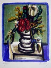 "Franz Priking ""Flowers"" Original Lithograph S/N"