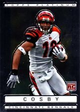 2009 TOPPS PLATINUM FOOTBALL QUAN COSBY ROOKIE CARD #158
