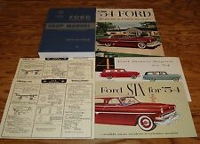 1954 Ford Car Shop Service Manual Owners Manual Sales Brochure 12 Piece Lot 54