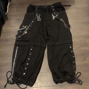 Tripp Nyc Bondage Pants Goth Club Cargo Jeans Black Mens XL