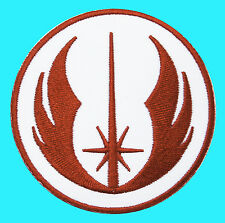 STAR WARS - Order of the Jedi Emblem Red Warrior Embroidered - Iron Sew On Patch