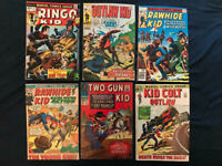 MARVEL WESTERN Silver & Bronze Age lot of 6: Rawhide Kid, Kid Colt, Ringo Kid...