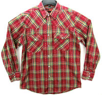 Canyon Guide Men's Size Large Pearl Snap Long Sleeve Western Shirt Plaid