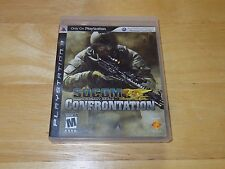 SOCOM US Navy Seals Confrontation (Sony PS3, 2008) Case and Manual Only/No Game