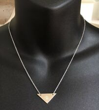 Samantha Wills 925 Sterling Silver Plated Fine Chain Triangle Designer Necklace