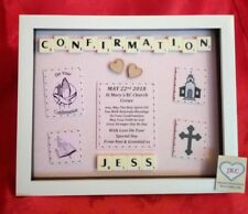 CONFIRMATION PERSONALISED FRAME GIFT PICTURE KEEPSAKE BOY GIRL CHURCH PLAQUE